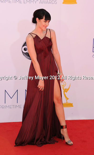 LOS ANGELES, CA - SEPTEMBER 23: Jena Malone. arrives at the 64th Primetime Emmy Awards at Nokia Theatre L.A. Live on September 23, 2012 in Los Angeles, California.