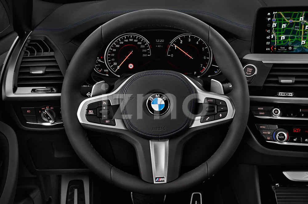 Car pictures of steering wheel view of a 2018 BMW X3 M-Sport 5 Door SUV Steering Wheel