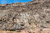Volcanic rocks under Mount Ngaruhoe, Tongariro National Park, Central Plateau, North Island, UNESCO World Heritage Area, New Zealand, NZ