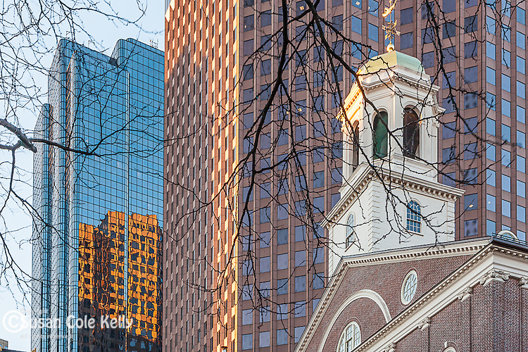 The belltower of Faneuil Hall, Boston National Historical Park, Boston, MA, USA