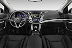 Stock photo of straight dashboard view of 2015 Hyundai I40 Premium 5 Door Wagon Dashboard