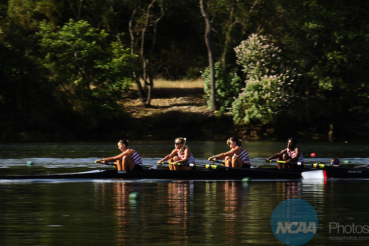 30 MAY 2010: Florida Tech competes in the Fours Grand Final during the Division II Rowing Championship held at the Sacramento State Aquatic Center in Gold River, CA. Florida Tech finished in second place with a time of 7:43.84. Jose Luis Villegas/NCAA Photos