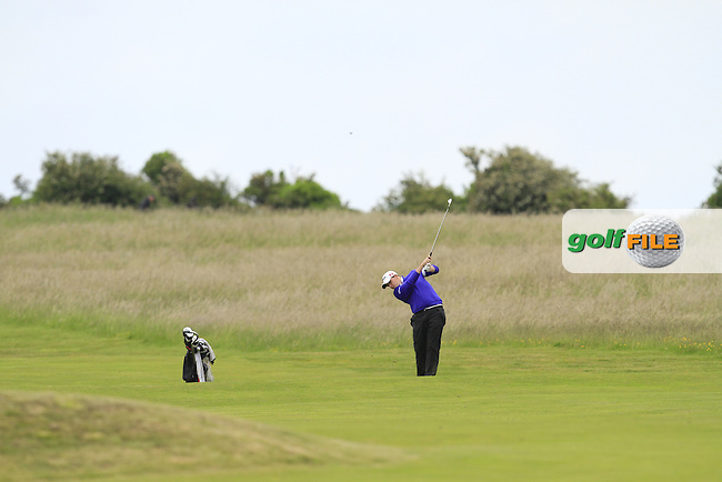 Alan Lowry (Esker Hills) on the 18th during Round 3 of the East of Ireland in the Co. Louth Golf Club at Baltray on Monday 2nd June 2014.<br /> Picture:  Thos Caffrey / www.golffile.ie