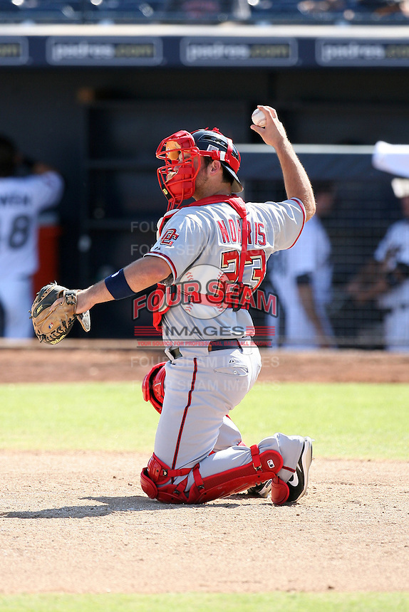 Derek Norris - Scottsdale Scorpions - 2010 Arizona Fall League.Photo by:  Bill Mitchell/Four Seam Images..
