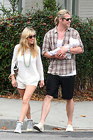 Elsa Pataky, husband Chris Hemsworth & baby - Los Angeles