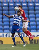 Middlesbrough's Jonathan Howson (right) battles with Reading's Tyler Blackett (left) <br /> <br /> Photographer David Horton/CameraSport<br /> <br /> The EFL Sky Bet Championship - Reading v Middlesbrough - Tuesday July 14th 2020 - Madejski Stadium - Reading<br /> <br /> World Copyright © 2020 CameraSport. All rights reserved. 43 Linden Ave. Countesthorpe. Leicester. England. LE8 5PG - Tel: +44 (0) 116 277 4147 - admin@camerasport.com - www.camerasport.com