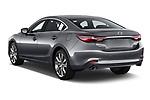 Car pictures of rear three quarter view of a 2018 Mazda Mazda6 Skycruise 4 Door Sedan angular rear