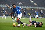 27.02.2019: Rangers v Dundee: Alfredo Morelos leaves Paul McGowan in his wake