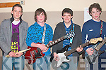 Taking part in The Battle of The Bands in The Presentation School Hall Listowel on Friday night were,  Scot Fitzgerald, Conor Lane, Denis McAuliffe and Eoin Kelly, all from Abbeyfeale   Copyright Kerry's Eye 2008