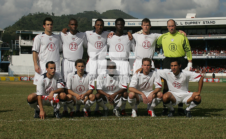 09 February, 2005. The USMNT before the World Cup qualifier at Queen's Park Oval in Port of Spain, Trinidad and Tobago.  The USMNT defended Trinidad and Tobago 2-1.