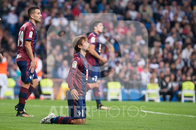 Eibar Takashi Inui during La Liga match between Real Madrid and Eibar at Santiago Bernabeu Stadium in Madrid, Spain. October 22, 2017. (ALTERPHOTOS/Borja B.Hojas)