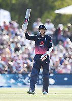 Alex Hales 50 not out.<br /> New Zealand Blackcaps v England. 5th ODI International one day cricket, Hagley Oval, Christchurch. New Zealand. Saturday 10 March 2018. &copy; Copyright Photo: Andrew Cornaga / www.Photosport.nz