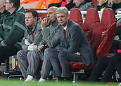 2nd November 2017, Emirates Stadium, London, England; UEFA Europa League group stage, Arsenal versus Red Star Belgrade; Arsenal manager Arsene Wenger looks from the dugout