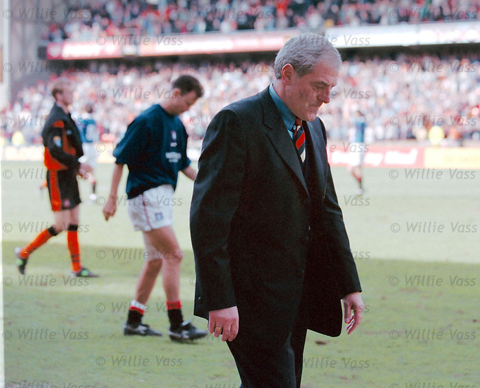 Walter Smith raging after a 2-1 victory at Tannadice is not enough to clinch 10 league titles in a row for Rangers. The first trophyless season in 12 years for Rangers at the end of the 1998 campaign