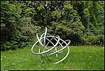 Scultura internazionale al Castello di Aglie. Sculpture exhibition in the park of the Castle of Aglie. Here the work of Jung Seo.