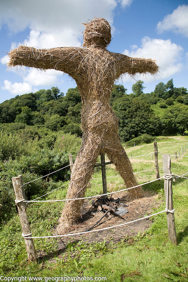 Straw man, Castell Henllys iron age village, Pembrokeshire, Wales