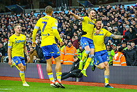Leeds United's Pontus Jansson celebrates scoring his side's second goal with teammate Luke Ayling<br /> <br /> Photographer Alex Dodd/CameraSport<br /> <br /> The EFL Sky Bet Championship - Aston Villa v Leeds United - Sunday 23rd December 2018 - Villa Park - Birmingham<br /> <br /> World Copyright &copy; 2018 CameraSport. All rights reserved. 43 Linden Ave. Countesthorpe. Leicester. England. LE8 5PG - Tel: +44 (0) 116 277 4147 - admin@camerasport.com - www.camerasport.com