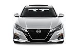 Car photography straight front view of a 2019 Nissan Altima SV 4 Door Sedan Front View
