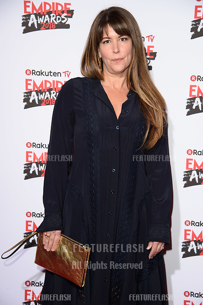 Patty Jenkins arriving for the Empire Awards 2018 at the Roundhouse, Camden, London, UK. <br /> 18 March  2018<br /> Picture: Steve Vas/Featureflash/SilverHub 0208 004 5359 sales@silverhubmedia.com