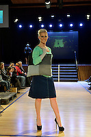 Juli Hunter, New Zealand Eco Fashion Exposed, Eco Designer Runway at Notre Dame Performing Arts Centre, Lower Hutt, New Zealand on Saturday 26 July 2014. <br /> Photo by Masanori Udagawa. <br /> www.photowellington.photoshelter.com.