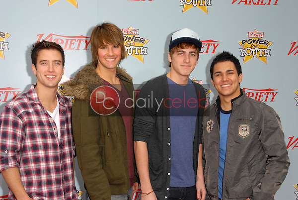 """Logan Henderson, Kendall Schmidt, James Maslow and Carlos Pena<br /> at Variety's 3rd Annual """"Power of Youth,"""" Paramount Studios, Hollywood, CA. 12-05-09<br /> David Edwards/DailyCeleb.com 818-249-4998"""