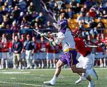 UAlbany Men's Lacrosse defeats Stony Brook on March 31 at Casey Stadium.  \ua1 shoots\.