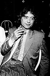 The Firm 1985 Jimmy Page at release party for Willy and the Poor Boys.© Photofeatures.