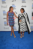 Naomie Harris &amp; Janelle Monae at the 2017 Film Independent Spirit Awards on the beach in Santa Monica, CA, USA 25 February  2017<br /> Picture: Paul Smith/Featureflash/SilverHub 0208 004 5359 sales@silverhubmedia.com