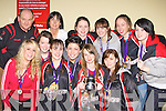 St Marys u18 ladies celebrate winning the National Cup at their homecoming in Castleisland on Saturday night front row l-r: Clodagh O'Connor, Lauren Prenderville, Mirian Leane MVP, Danielle Mcloughlin, Philamena O'Connor Captain, Maura Courtney. Back row: Denny Porter Coach, Liz Galwey Manager, Louise O'Connor, Amber Galwey, Mary Herlihy and Cliodhna Crowley
