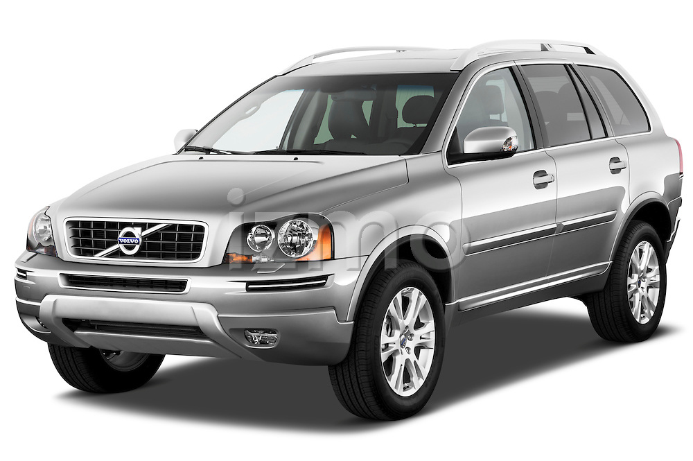 Front three quarter view of a 2012 Volvo XC90.