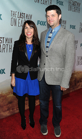 LOS ANGELES - FEBRUARY 24: Executive Producer Chris Miller and wife Robyn Murgio arrive at an exclusive screening of the premiere episode of FOX's 'The Last Man on Earth' at Big Daddy's Antique Shop on February 24, 2015 in Los Angeles, California. Credit: PGFM/MediaPunch