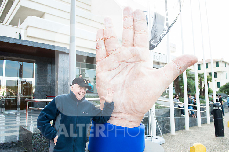 American actor Walter Koenig pose with the big hand at the door of the theater during Festival de Cine Fantastico de Sitges in Barcelona. October 11, Spain. 2016. (ALTERPHOTOS/BorjaB.Hojas)