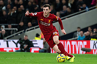 Liverpool's Andy Robertson <br /> <br /> Photographer Stephanie Meek/CameraSport<br /> <br /> The Premier League - Tottenham Hotspur v Liverpool - Saturday 11th January 2020 - Tottenham Hotspur Stadium - London<br /> <br /> World Copyright © 2020 CameraSport. All rights reserved. 43 Linden Ave. Countesthorpe. Leicester. England. LE8 5PG - Tel: +44 (0) 116 277 4147 - admin@camerasport.com - www.camerasport.com