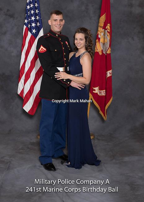 Jonathan Milburn at the Military Police Company A 241 Marine Corps Birthday Ball, Saturday Nov. 19, 2016  in Lexington, Ky. Photo by Mark Mahan