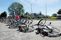 Nederland  Amsterdam  2017.  Fietsen op de grond bij het Science park. Foto Berlinda van Dam / Hollandse Hoogte
