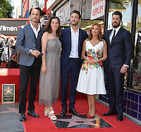 LOS ANGELES, CA. August 11, 2016: Rodrigo Santoro &amp; Ayelet Zurer &amp; Jack Houston &amp; Roma Downey &amp; Toby Kebbell at Hollywood Walk of Fame Star ceremony for actress Roma Downey. <br /> Picture: Paul Smith / Featureflash