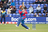 Mohammad Nabi (Afghanistan) pulls behind square during Afghanistan vs Sri Lanka, ICC World Cup Cricket at Sophia Gardens Cardiff on 4th June 2019