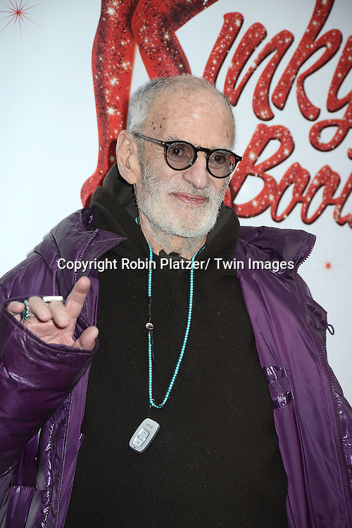 "Larry Kramer arrives at the ""Kinky Boots"" Broadway Opening on April 4, 2013 at The Al Hirschfeld Theatre in New York City. Harvey Fierstein wrote is the Book Writer and Cnydi Lauper is the Composer."