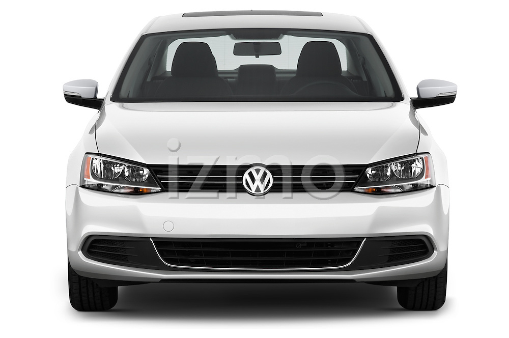 Straight front view of a 2013 Volkswagen Jetta S Sedan