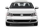 Straight front view of a 2013 Volkswagen Jetta S Sedan