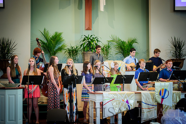 The Westminster youth lead worship service at the Friendly Campus on Sunday, May 11, 2014. (Chris English/Artisan Image, Inc.)