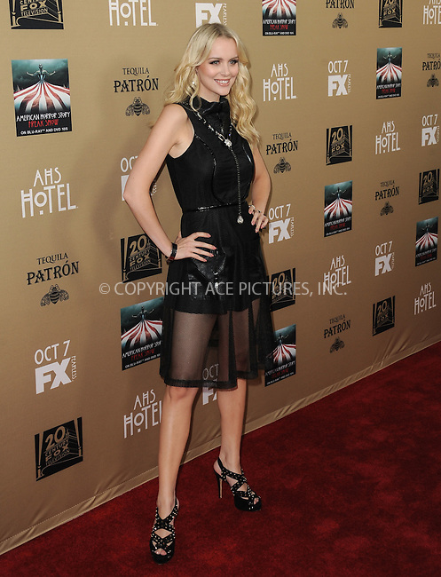 WWW.ACEPIXS.COM<br /> <br /> October 3 2015, LA<br /> <br /> Helena Mattsson arriving at the premiere of FX's 'American Horror Story: Hotel' at the Regal Cinemas L.A. Live on October 3, 2015 in Los Angeles, California.<br /> <br /> <br /> By Line: Peter West/ACE Pictures<br /> <br /> <br /> ACE Pictures, Inc.<br /> tel: 646 769 0430<br /> Email: info@acepixs.com<br /> www.acepixs.com
