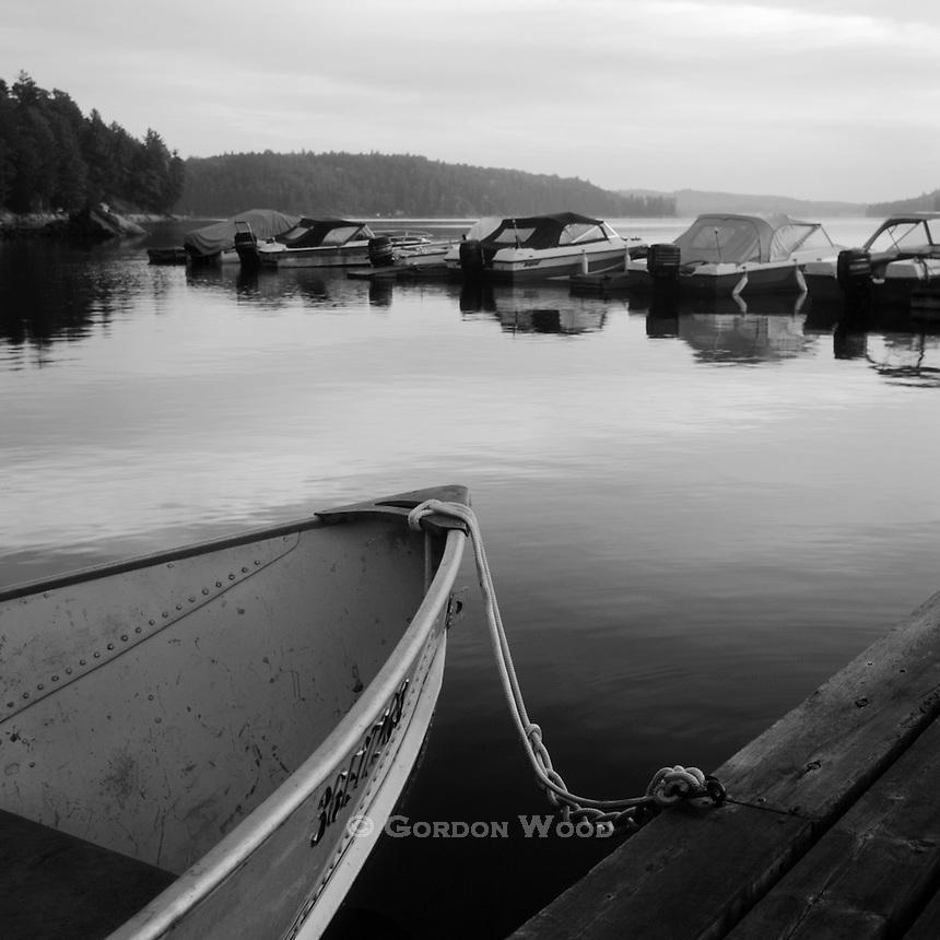 Boats at Central Ontario Docks