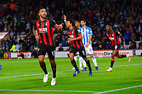 Callum Wilson of AFC Bournemouth scores the first goal and celebrates during AFC Bournemouth vs Huddersfield Town, Premier League Football at the Vitality Stadium on 4th December 2018