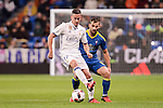 "Real Madrid's Lucas Vazquez and Celta de Vigo's Jonathan Castro ""Jonny"" during Copa del Rey match between Real Madrid and Celta de Vigo at Santiago Bernabeu Stadium in Madrid, Spain. January 18, 2017. (ALTERPHOTOS/BorjaB.Hojas)"