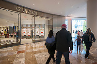 A Gucci store in the Brookfield Place mall in New York on Sunday, April 17, 2016. (© Richard B. Levine)