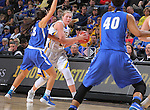 SIOUX FALLS, SD - MARCH 5:  Peyton Fallis #23 of Fort Wayne defends Carissa Ober #21 of South Dakota State in the 2016 Summit League Tournament. (Photo by Dick Carlson/Inertia)