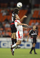 Ben Olsen, left, Scott Buete, right, Chicago vs DC United at RFK Stadium in Washington, DC.
