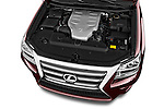 Car Stock 2018 Lexus GX 460 5 Door SUV Engine  high angle detail view
