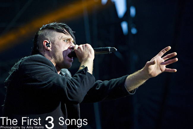 Matt Walst performs with Three Days Grace during the The Beale Street Music Festival in Memphis, Tennessee.